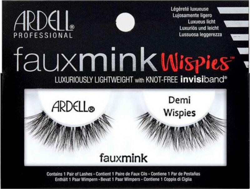 ARDELL - FAUX MINK - Luxuriously Lightweight with invisiband - Sztuczne rzęsy na pasku - DEMI WISPIES