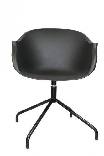 Krzesło Roundy czarne