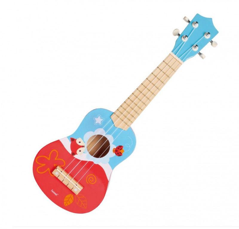 Gitara ukulele drewniana Lis