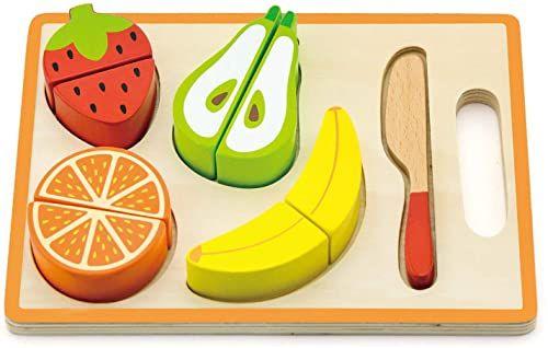 Viga Toys - puzzle formy - krojenie owoców