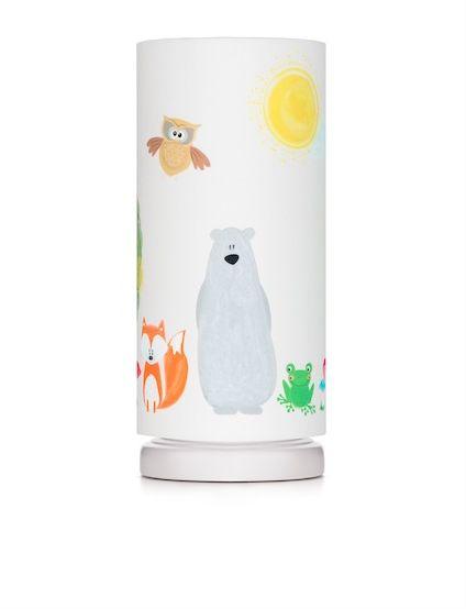 Lampka nocna ze ściemniaczem - przyjaciele z lasu