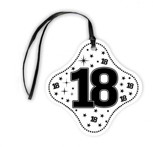 Zawieszki na butelki 18 urodziny 20szt za411