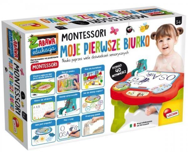 Stolik edukacyjny Montessori Moje pierwsze biurko