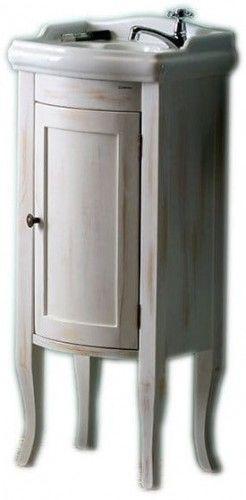 Szafka umywalkowa 36,5x85x29 cm na nóżkach ,RETRO staro/biała