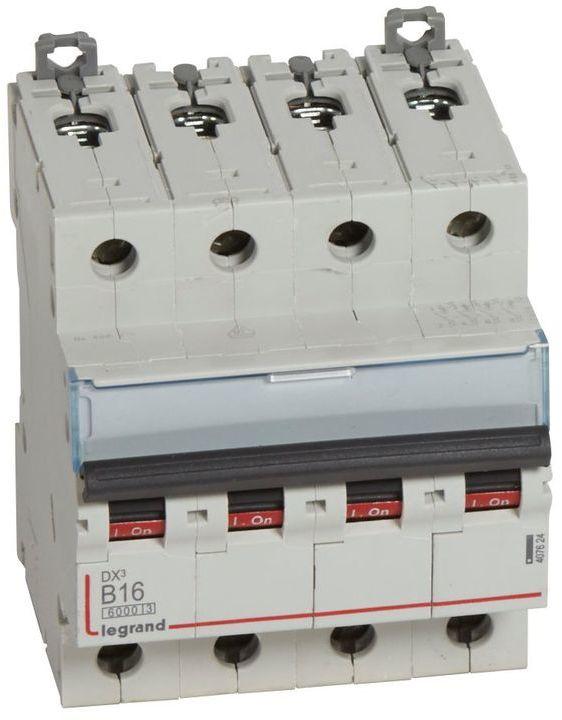 Wyłącznik nadprądowy 4P B 16A 6kA S304 DX3 407624