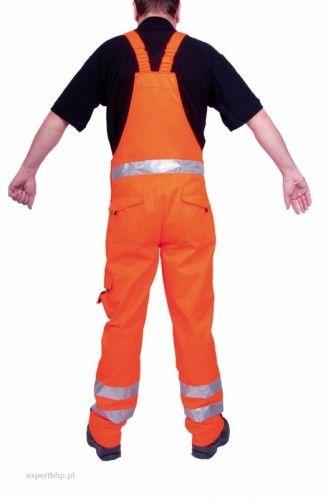 Spodnie ogrodniczki ostrzegawcze VISION w kolorze pamarańczowym