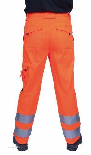 Spodnie do pasa ostrzegawcze VISION w kolorze pomarańczowym