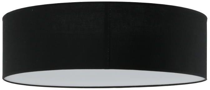 Lampex Iglo 40 czarny 654/40 CZA plafon lampa sufitowa czarny nowoczesna abażur 3x40W E27 40cm