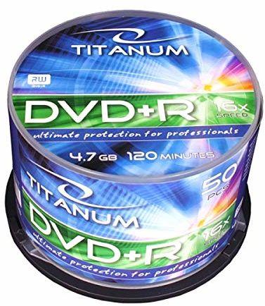 Esperanza 1286 DVD+R Titanum 4,7 GB X16 - Cake Box 50 sztuk niebieski/zielony