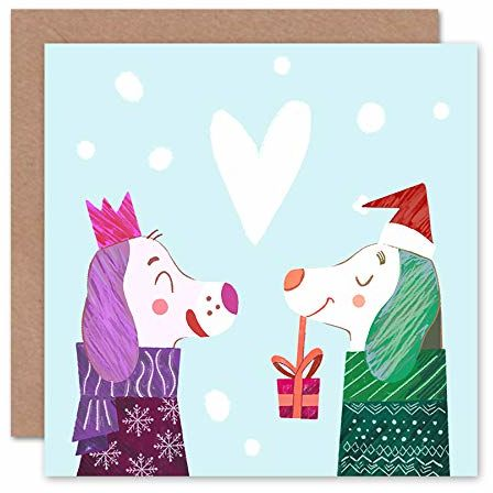 """Wee Blue Coo Kartka świąteczna z napisem """"Puppy Love"""""""