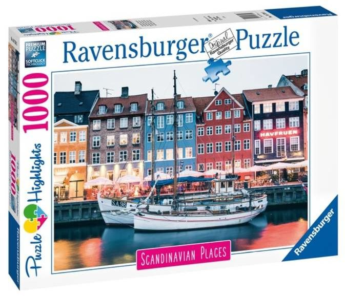Puzzle 1000 Skandynawskie miasto - Ravensburger