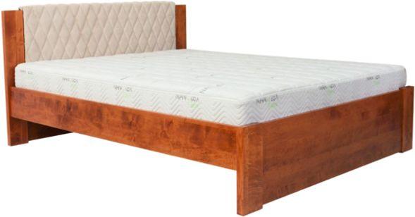 Łóżko MALMO EKODOM drewniane, Rozmiar: 100x200, Kolor wybarwienia: Wiśnia, Szuflada: Brak Darmowa dostawa, Wiele produktów dostępnych od ręki!