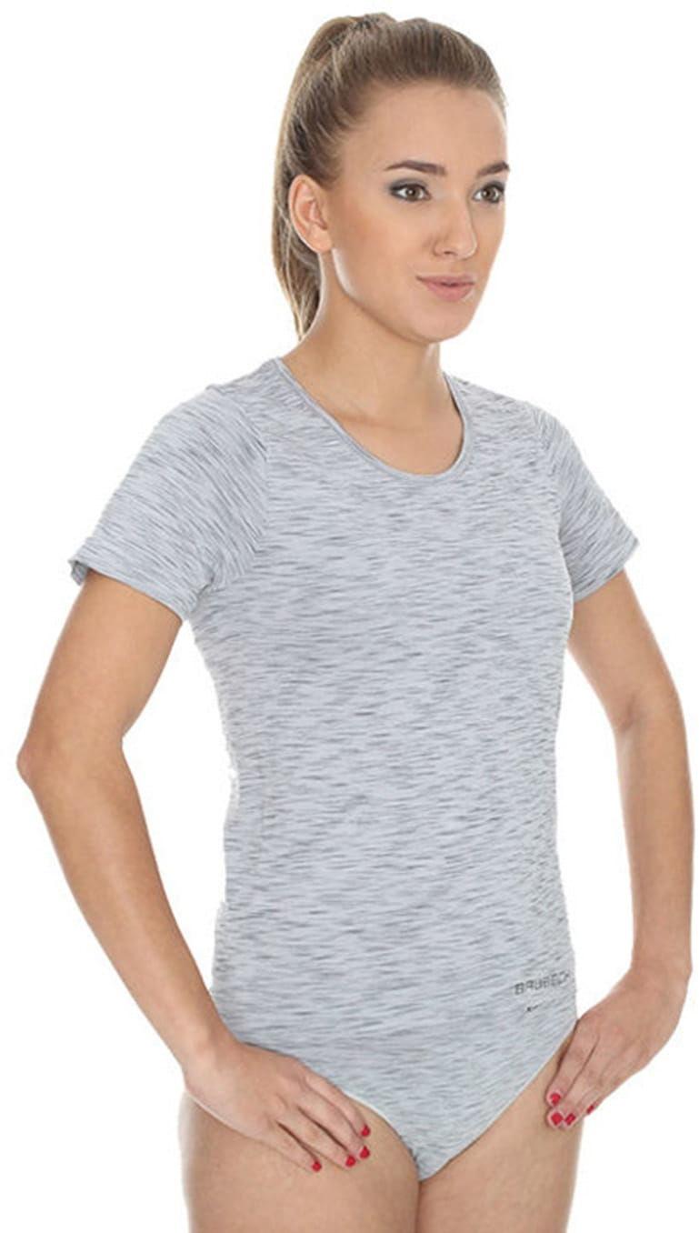 Koszulka damska Brubeck Fusion SS11570 szary