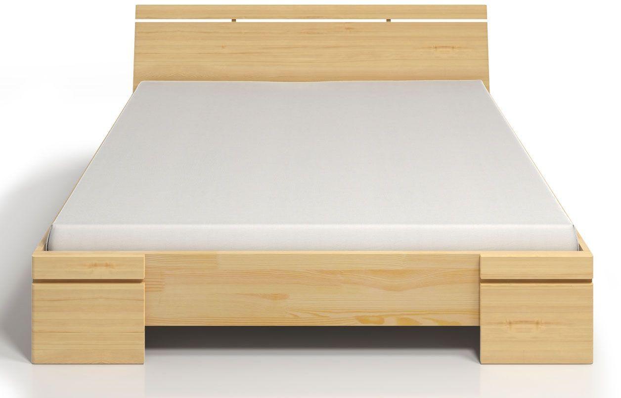 Drewniane łóżko z pojemnikiem Ventos 4X - 5 ROZMIARÓW