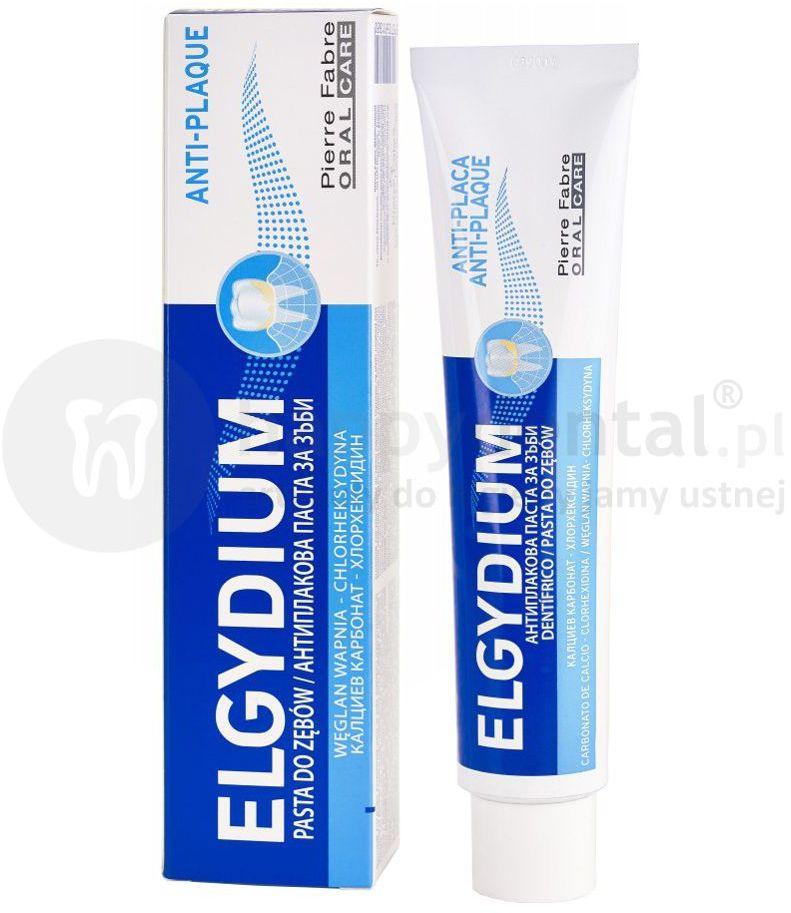 ELGYDIUM Anti-Plaque antybakteryjna pasta do zębów z chlorheksydyną 75ml