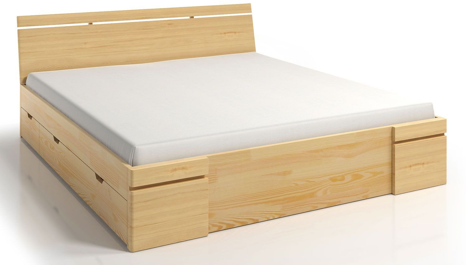 Drewniane łóżko z szufladami Ventos 5X - 5 ROZMIARÓW