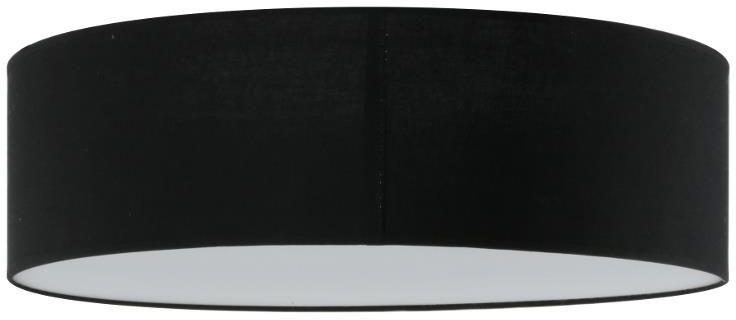 Lampex Iglo 50 czarny 654/50 CZA plafon lampa sufitowa abażur czarny nowoczesna 3xE27 50cm