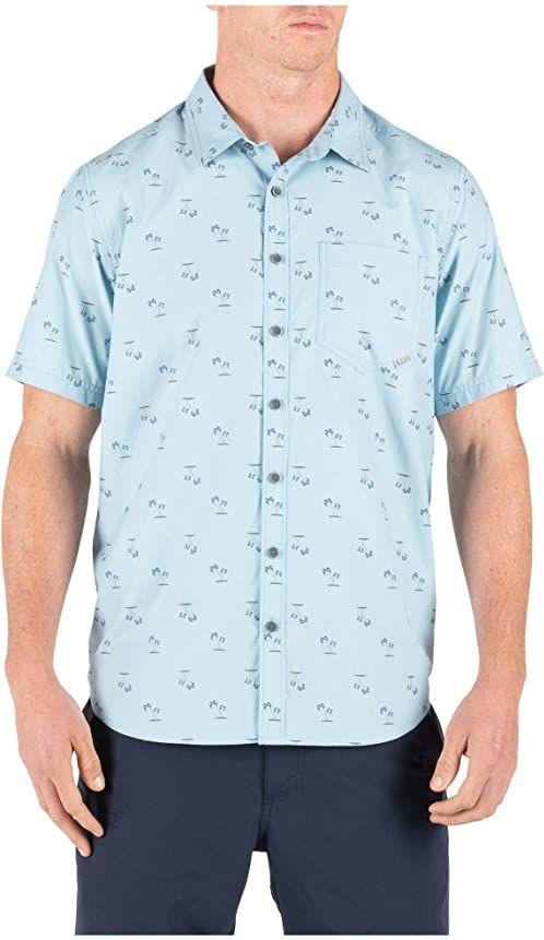 5.11 TACTICAL SERIES Męski T-shirt Life''s Breach. niebieski niebieski - Glacier Blue S