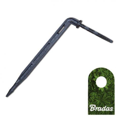 Kroplownik patykowy kątowy 2,2l/h ze wtykiem na wąż 3x5mm Bradas 1567