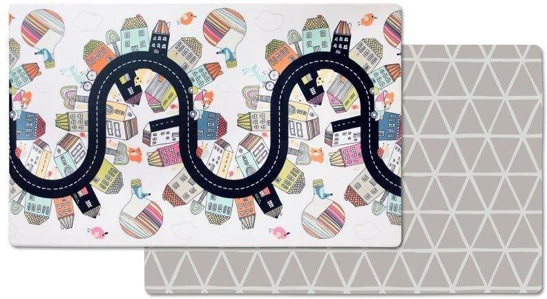 Skip hop dwustronny dywan piankowy wesołe podwórko - wesołe podwórko