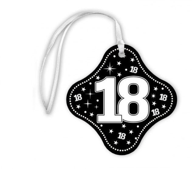 Zawieszki na butelki 18 urodziny 20szt za413