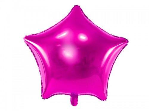 Balon foliowy Gwiazda ciemno różowa
