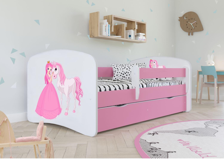 Łóżko dziecięce BABY DREAMS księżniczka i konik 180x80