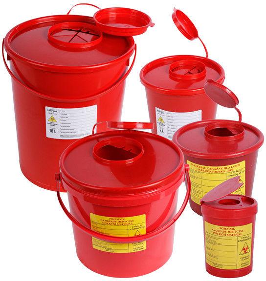 Pojemnik na odpady medyczne czerwony 2 l