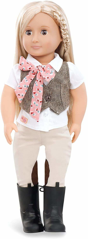 Our Generation BD31062Z z kamizelką Tweed, jazda konna Leah, lalka 45 cm