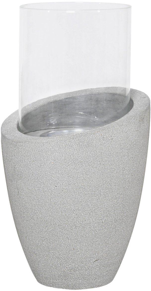 homea 5bgd086at lampion okrągły podstawa włókno szklane białe 28 x 28 x 50,5 cm
