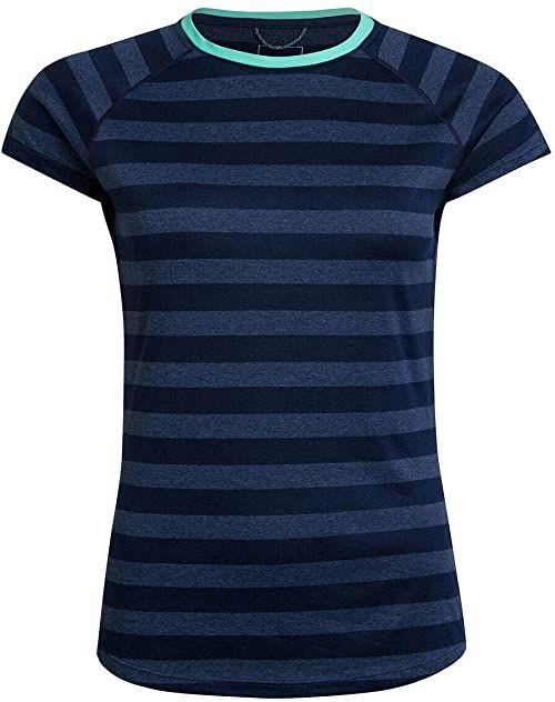 Berghaus damska koszulka w paski 2.0 koszulka z krótkim rękawem, zmierzch/vintage indygo, 14