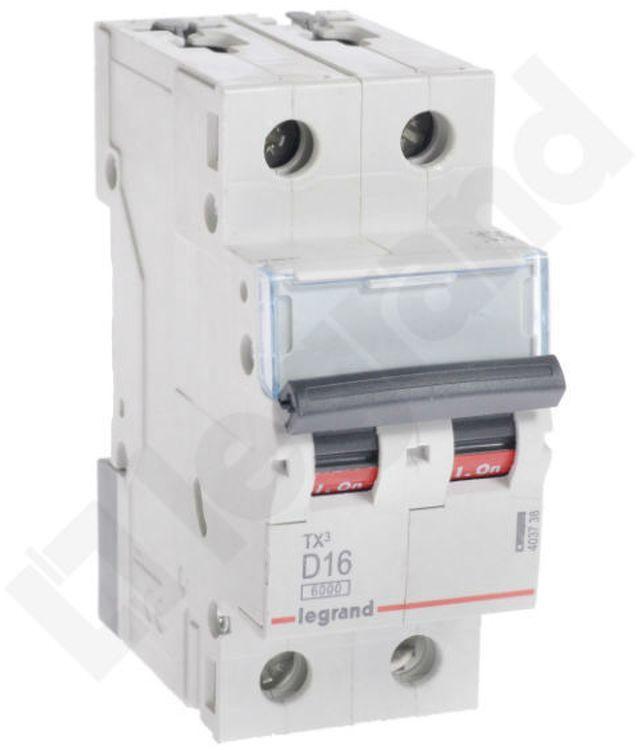 Wyłącznik nadprądowy 2P C 16A 6kA S302 DX3 407800