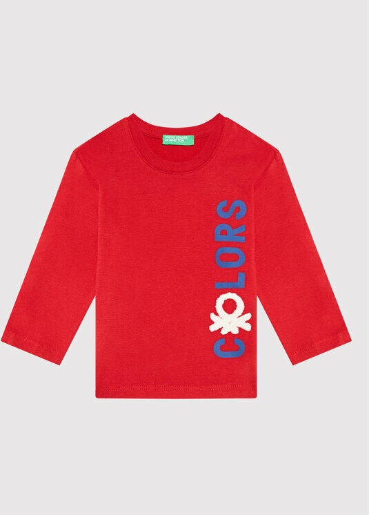 Bluzka 3ATNC15F2 Czerwony Regular Fit