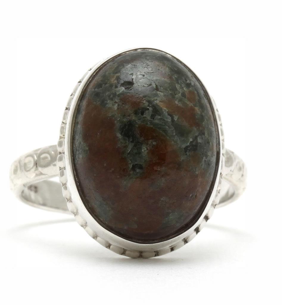 Kuźnia Srebra - Pierścionek srebrny, rozm. 14, Eudialit, 5g, model
