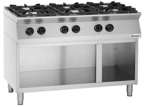 Bartscher Kuchnia gazowa 6 palnikowa 28800W - kod 1582101