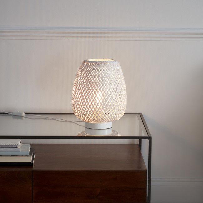 Lampa stołowa GoodHome Kasungu 1-punktowa E27 biała