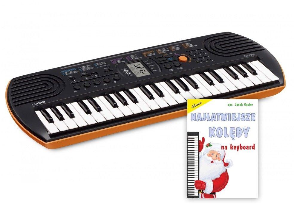 Casio SA-76 - mini keyboard + słuchawki + zasilacz - Raty 30x0%!