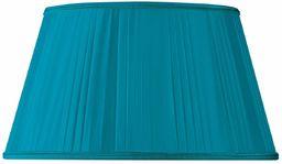 Klosz lampy w formie plisowanej półokrągły, Ø 35 x 24 x 20 cm, turkusowy