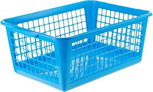 Sunware Basic kosz do przechowywania, niebieski, duży rozmiar