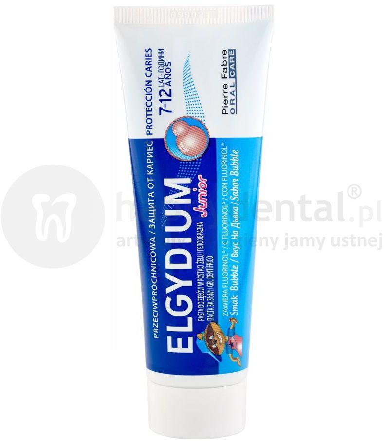 ELGYDIUM Junior pasta do zębów dla dzieci o smaku gumy do żucia 50ml