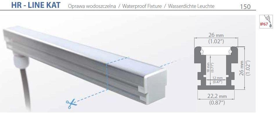 Profil led - hr-line kat - 20-100cm
