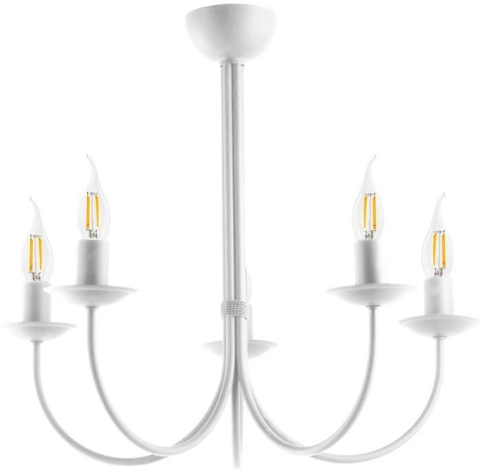 Lampex Samanta 5 biała 671/5 BIA żyrandol biały nowoczesna oprawa oświetleniowa E27 5x 60W 55cm
