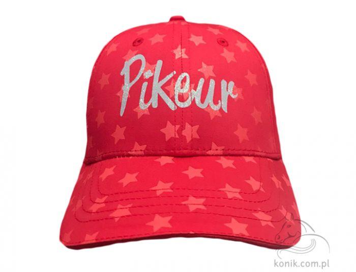 Czapka z daszkiem PRINT młodzieżowa - Pikeur - pink