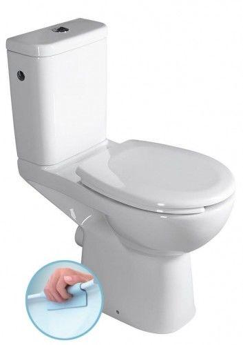 WC kompakt RIMLESS dla niepełnosprawnych CLEAN ON z deską Soft Close tylny odpływ