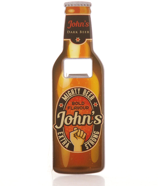 Boxer Gifts otwieracz do butelek piwa John ze stali nierdzewnej, wielokolorowy, 18,5 x 5,8 x 0,4 cm