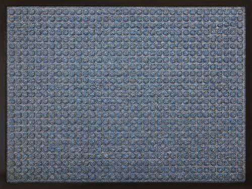 ID mat t 6080 08 efekt Carre dywan wycieraczka włókno polipropylen / guma niebieska 80 x 60 x 1 cm