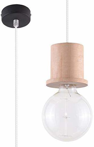 SOLLUX Lighting Milo lampa wisząca, naturalne drewno