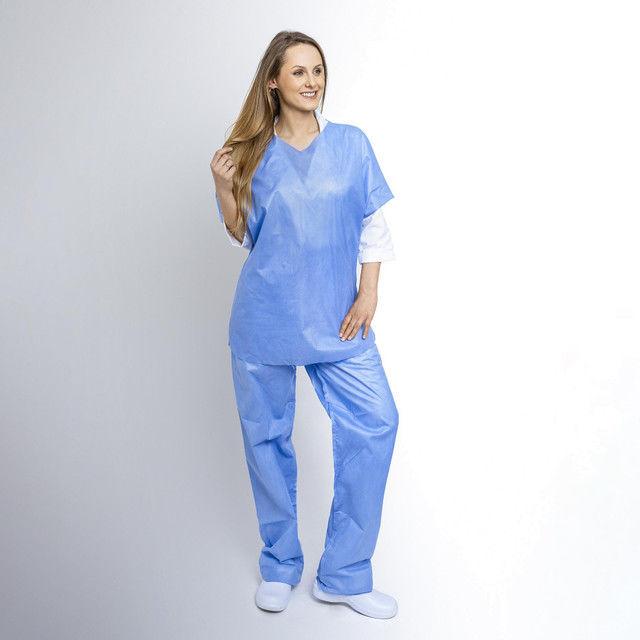 Komplet chirurgiczny bluza + spodnie z SMS (10 szt) XL 40