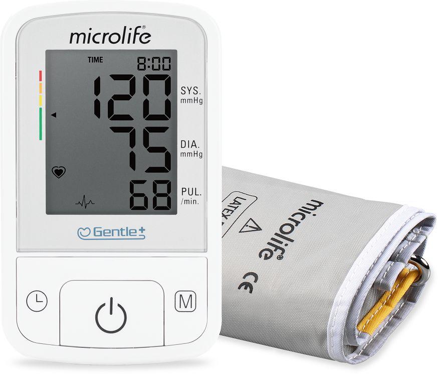 Automatyczny ciśnieniomierz naramienny z technologią IHB - wygodny mankiet stożkowy z możliwością dopasowania, wskaźnik zużycia baterii + zasilacz (Mi