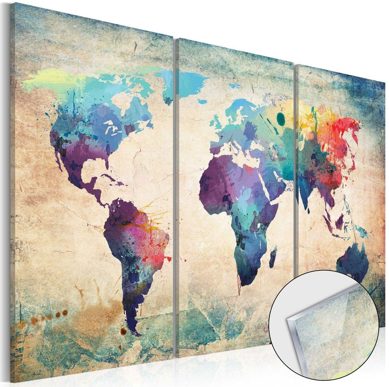 Obraz na szkle akrylowym - tęczowa mapa [glass]